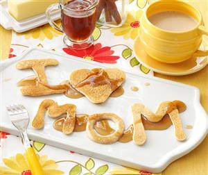 Mom's Cinnamon Alphabet Pancakes