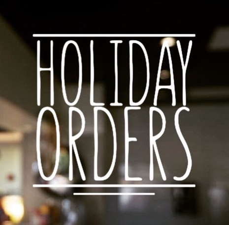 Holiday Menu – Orders Due 12/16